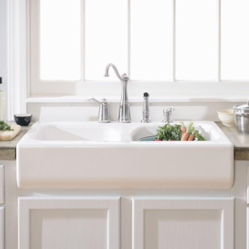 Download Wallpaper White Kitchen Sink Deep