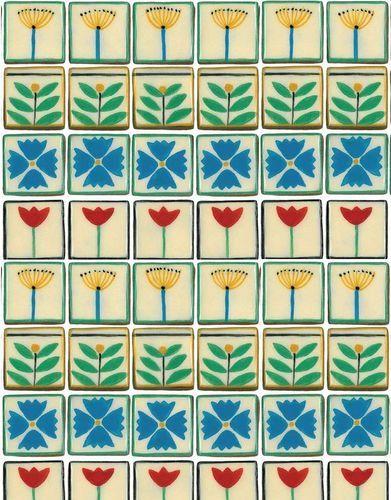Dee Hardwicke Flower Tiles Flat Wrap | eBay