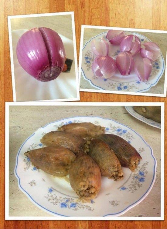 البيت السعيد طريقة عمل محشى البصل Cooking Food Vegetables