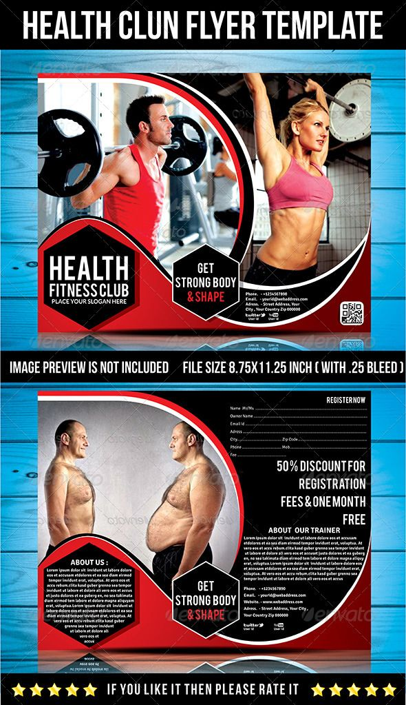 Health Fitness Club Flyer Template  Ck    Flyer Template