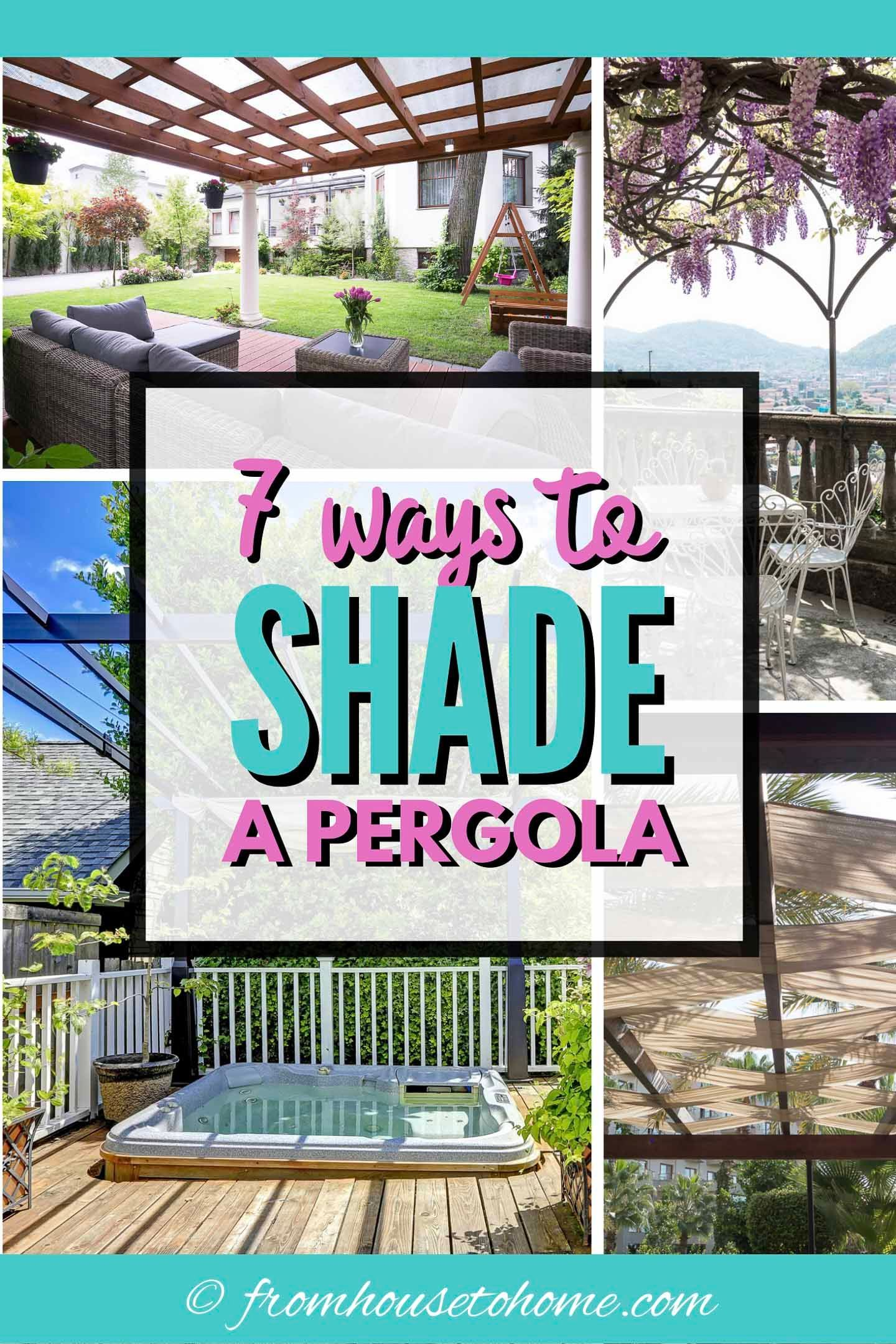 DIY Pergola Cover Ideas: 7 Ways To Protect Your Patio From ... on Patio Cover Ideas For Rain id=65322
