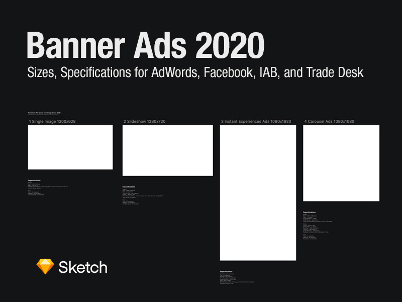Web Banners Sizes 2020 Artboard Sketch Freebie Download Free Resource For Sketch Sketch App Sources In 2020 Banner Ads Web Banner Banner Ad Sizes