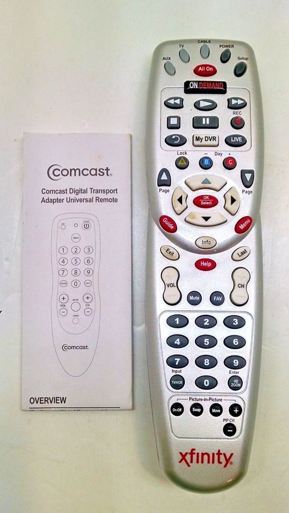 Univesal M2067bx3 Comcast Xfinity Remote Control With Instructions