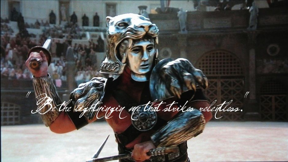 Tigris Of Gaul From Gladiator Quote Is From The Lightning