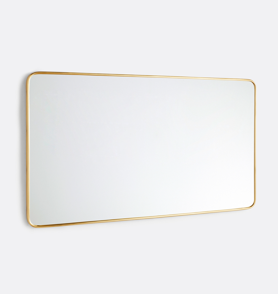 54 X 30 Rounded Rectangle Metal Framed Mirror Rejuvenation In 2021 Metal Frame Mirror Mirror Frames Metal Frame