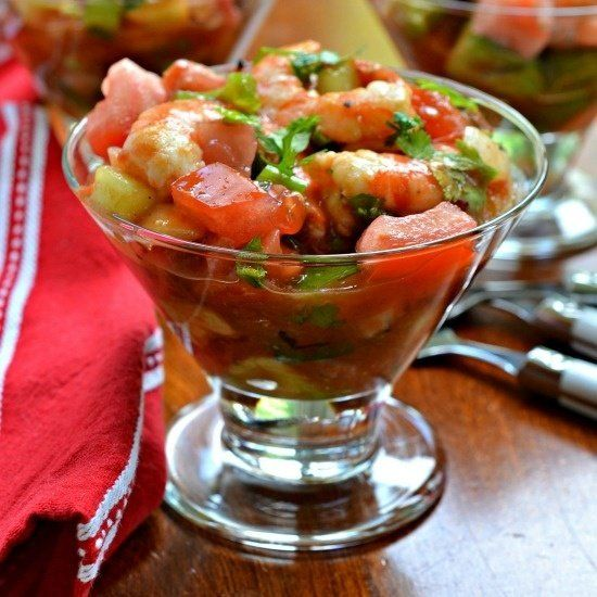 Mexican Shrimp Cocktail #quickandeasy #easyrecipe