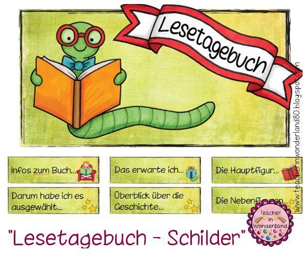 Deutsch in der Grundschule: Lesetagebuch   Schule   Learn ...