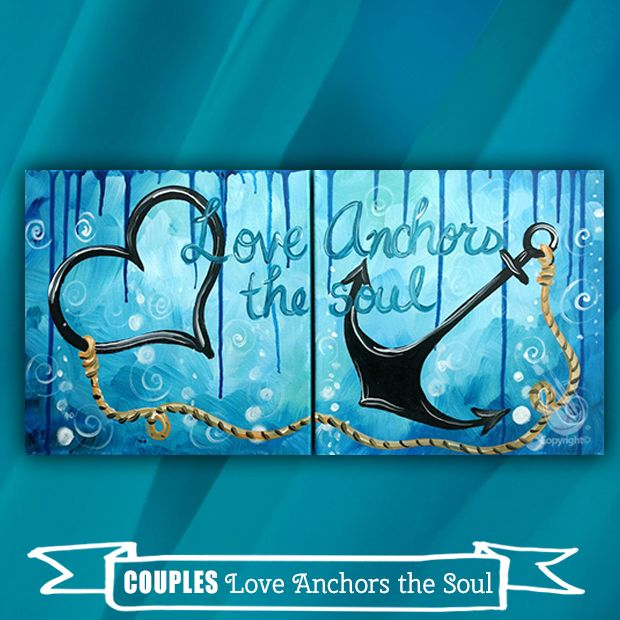 Twist Up Your Date Night With This Fun Couples Painting We Are Painting On Our Newest Canvas Size 1 Couple Painting Couples Canvas Painting Painting Canvases