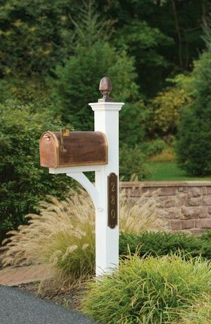 Just With Planter On Back Mailbox Post Beautiful Mailbox Mailbox Landscaping Diy Mailbox