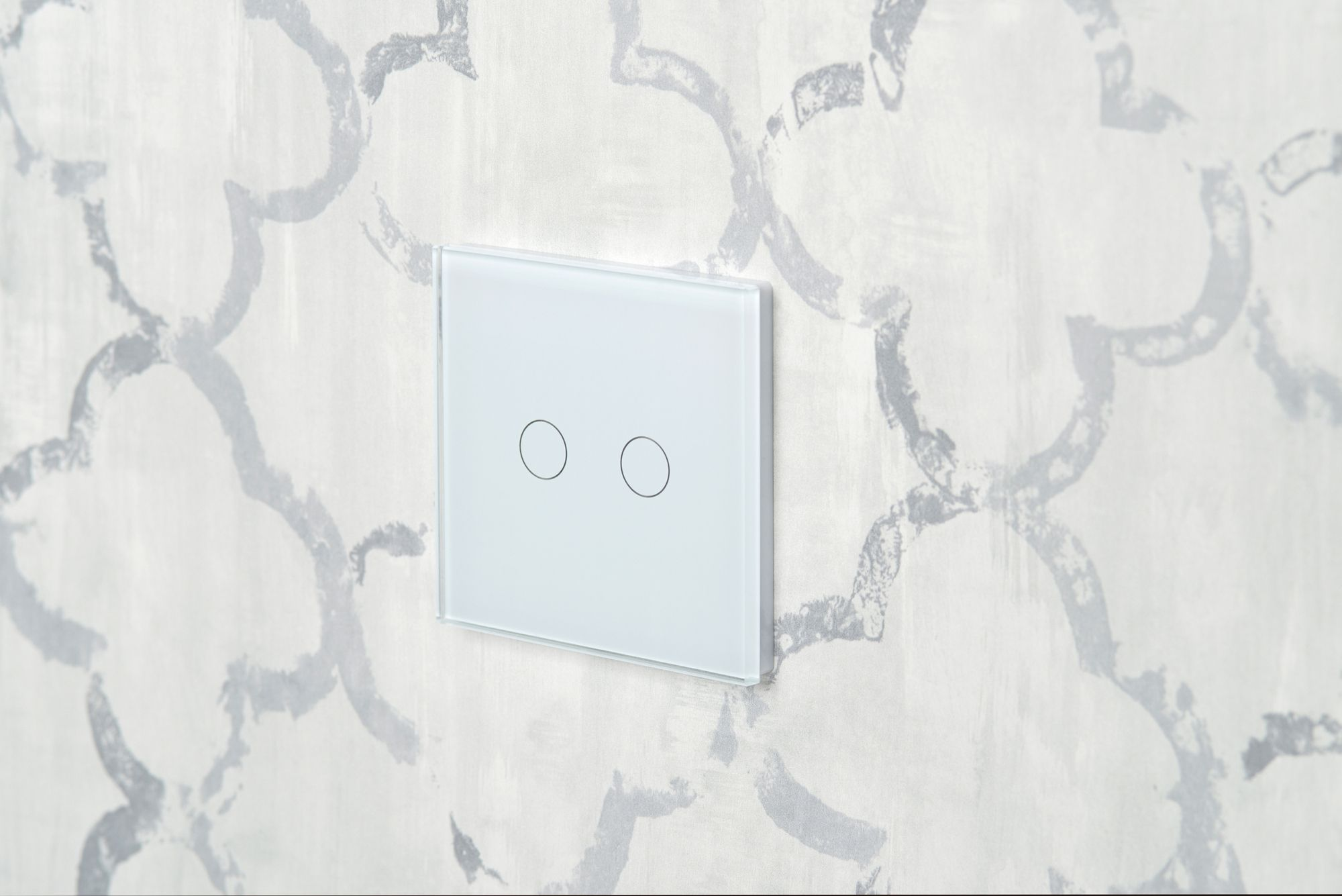 Crystal Pg 2 Gang Touch Light Switch White In