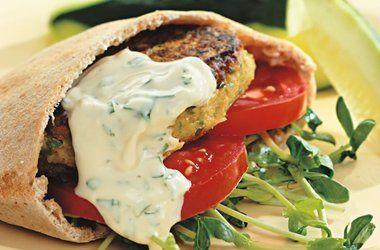 Chickpea Burgers  Tahini Sauce Recipes
