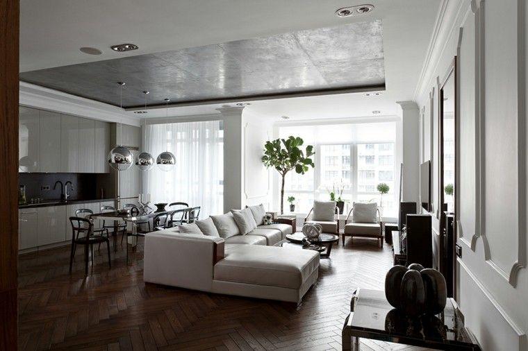 blanco en paredes COCINA + SALÓN + COMEDOR Pinterest Colores