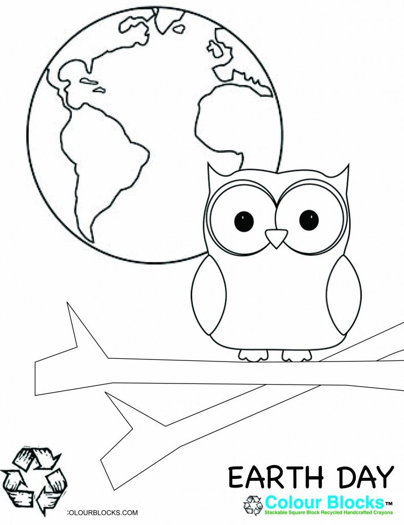 Celebrate EarthDay EarthDay2016 With This Fun Coloring Page Use Colour Block Recycled Crayons
