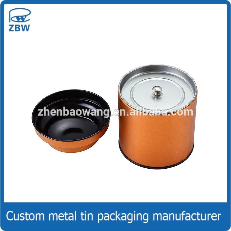 71c448bcbb Customized Wholesale Cylinder Tea Tin Can Round Copper Tea Tins With Inner  Lid