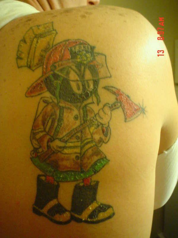 Marvin The Martian Tattoo Designs: Possible Future Tattoo??? Marvin The Fireman Tattoo