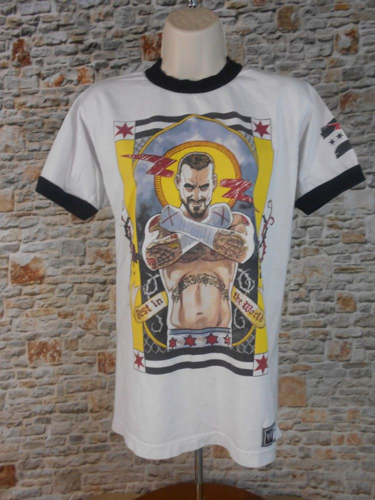 872172822 CM Punk WWE Authentic Best In World Graphic T-Shirt Size Small White  Wrestling #WWE #GraphicTee