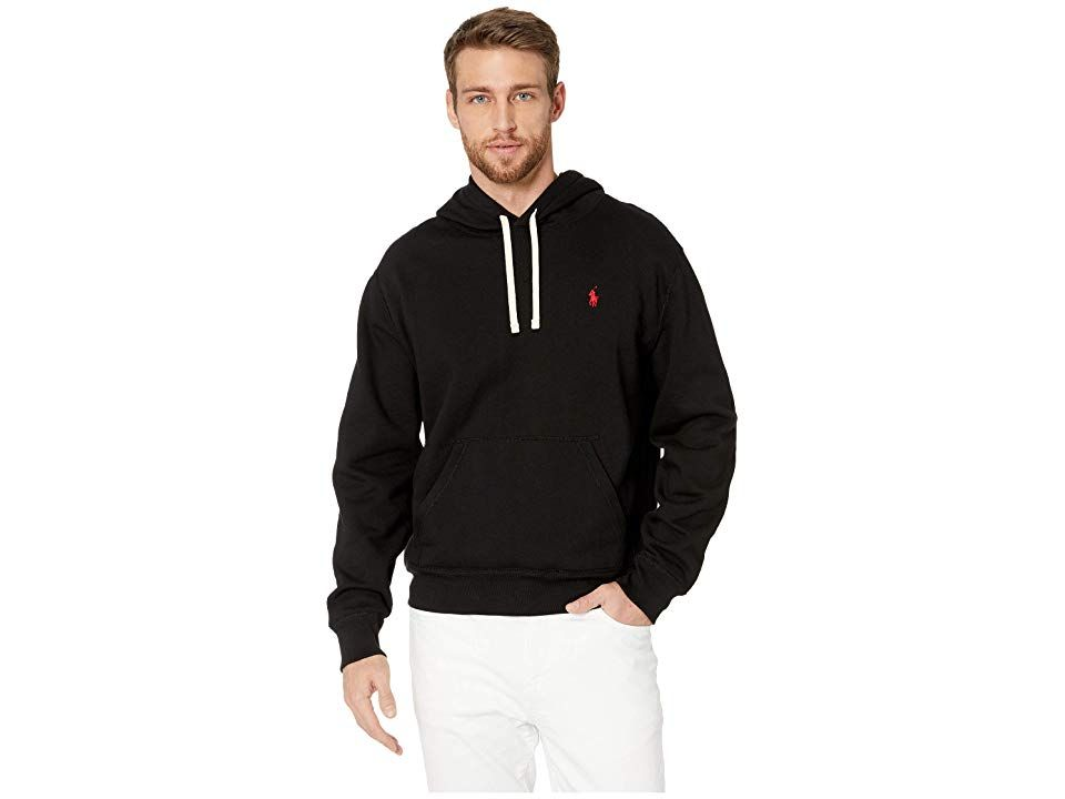 8bd01cb99 Polo Ralph Lauren Long Sleeve Classic Athletic Fleece Pullover Hoodie (Polo  Black) Men s Long