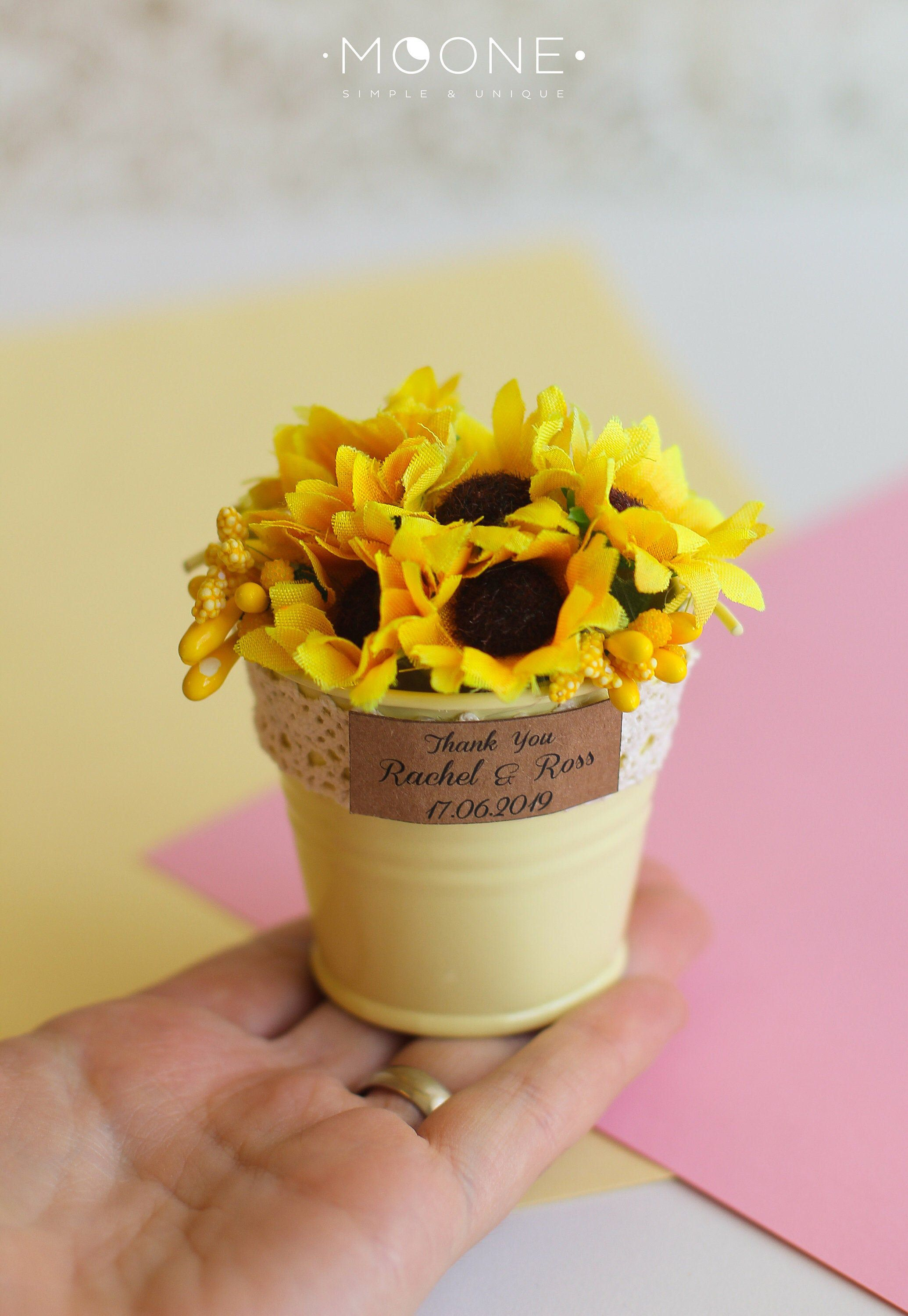 10pcs Sunflower Wedding Favors for Guests Sunflower Party