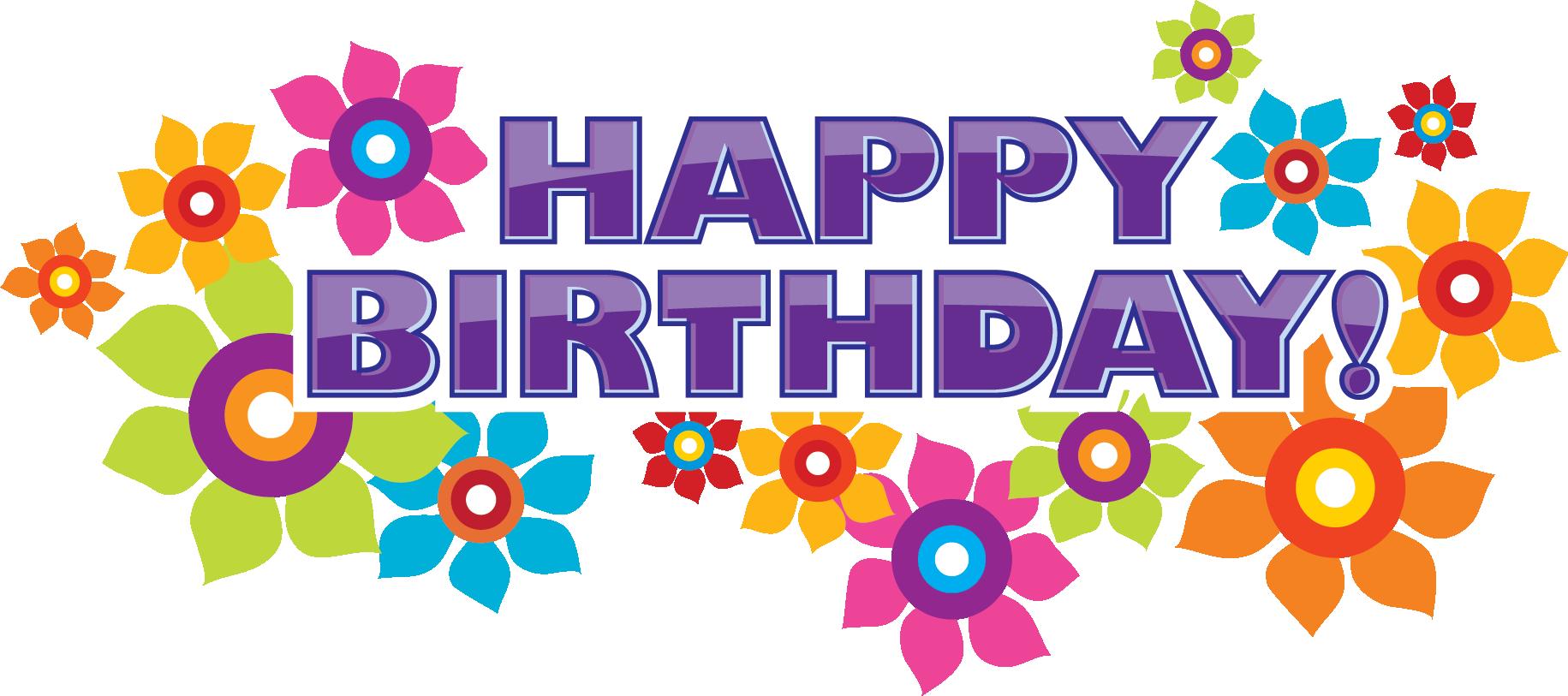 寄せ書きデザイン 文字 文章素材 Happy Birthday 花 誕生日画像 ハッピーバースデー 画像 誕生日のデザイン