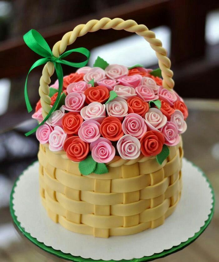 Basket Flower Cake Flower Basket Cake Birthday Cake With Flowers Cake Basket