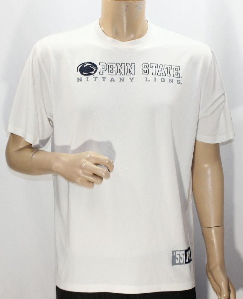 a89c722ff90 Under Armour Penn State Nittany Lions White School Logo Performance T-Shirt