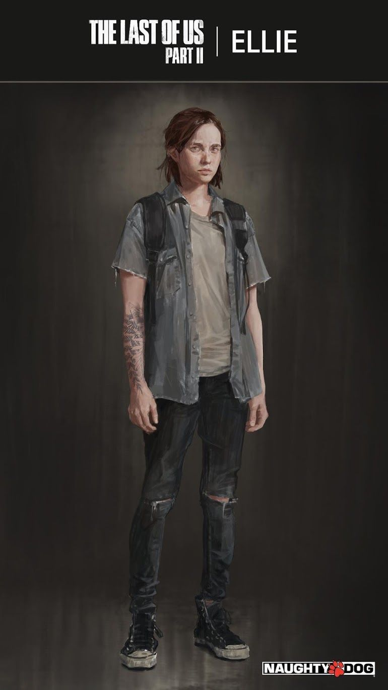 TheOmegaNerd, Gamer's Stuff: The Last of Us Part II Ellie's Outfit & tattoo Concept Art