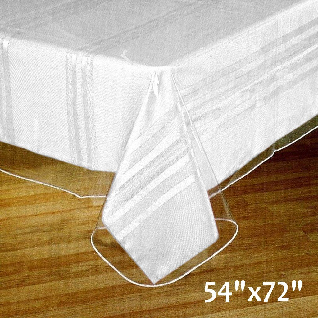Thick Disposable Plastic Vinyl Picnic Banquet Tablecloth Protector Cover Clear 54 X72 Protect In 2020 Vinyl Tablecloth Plastic Tablecloth Waterproof Tablecloth