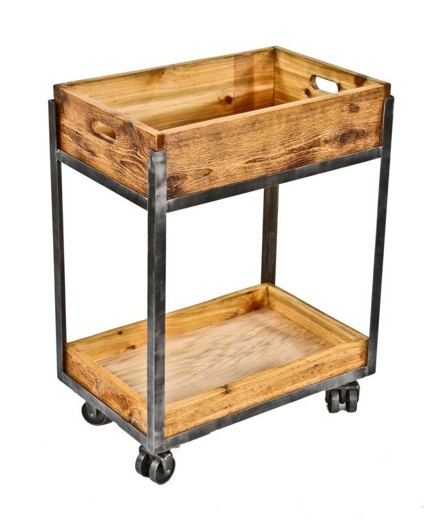 Urban Industrial Age Kitchen Warehouse Cart Island By: Repurposed American Industrial Welded Joint Angled Iron