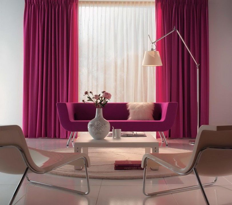 Pink Living Room Design Ideas Fresh Pink Curtain For Beautiful Modern Living Room Decoration Living Room Designing Ideas Living Room Furniture For Small Living #pink #living #room #curtains