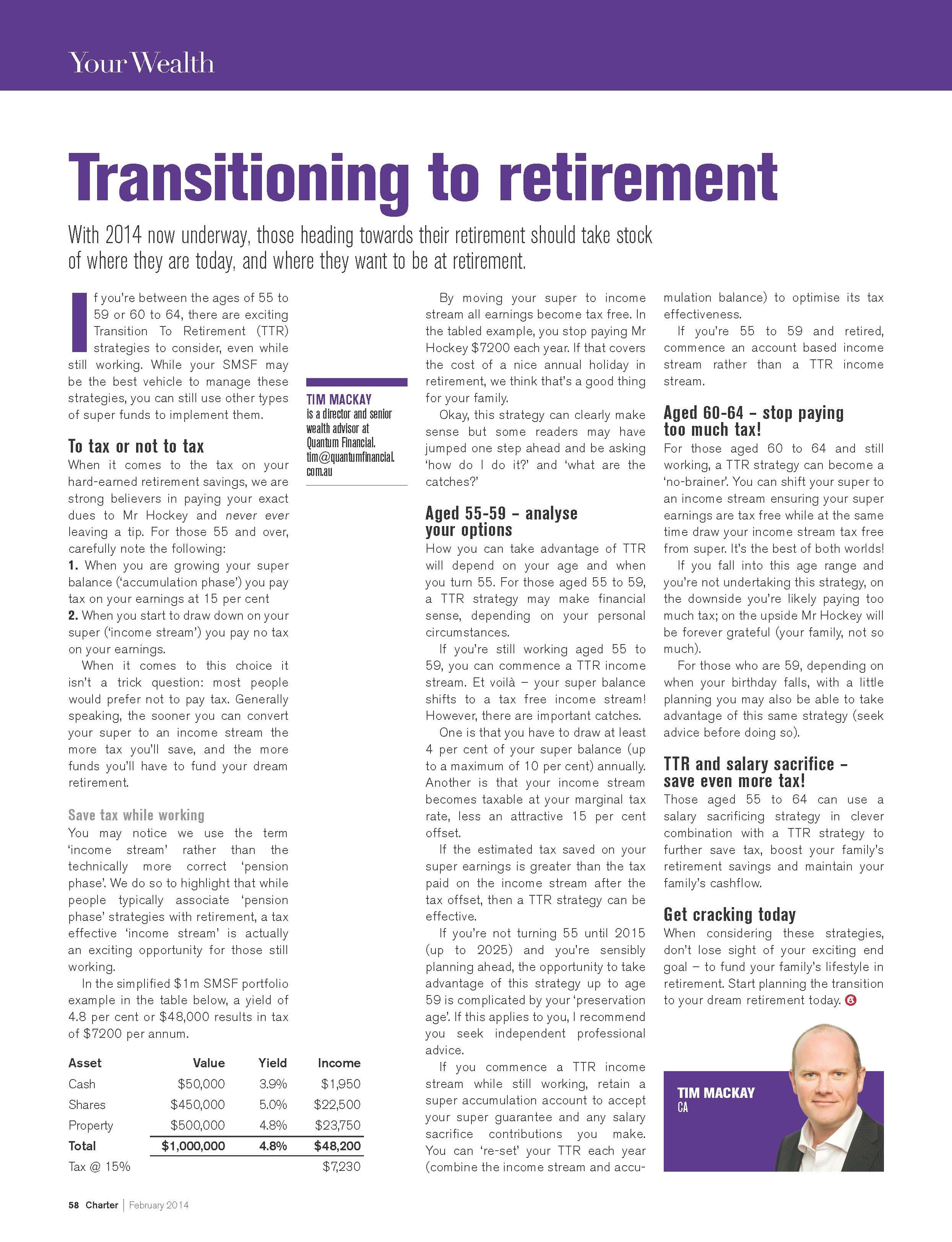 Do You Want To Successfully Transition To Your Dream Retirement