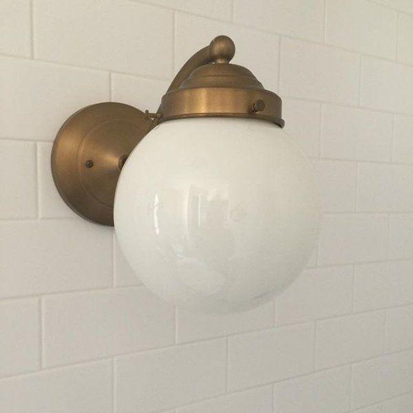 Brooks & New #rejuvenation sconces installed #Agedbrass #Brass #Sconce ... azcodes.com