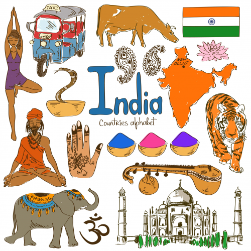 India Culture Map India for kids, Geography for kids