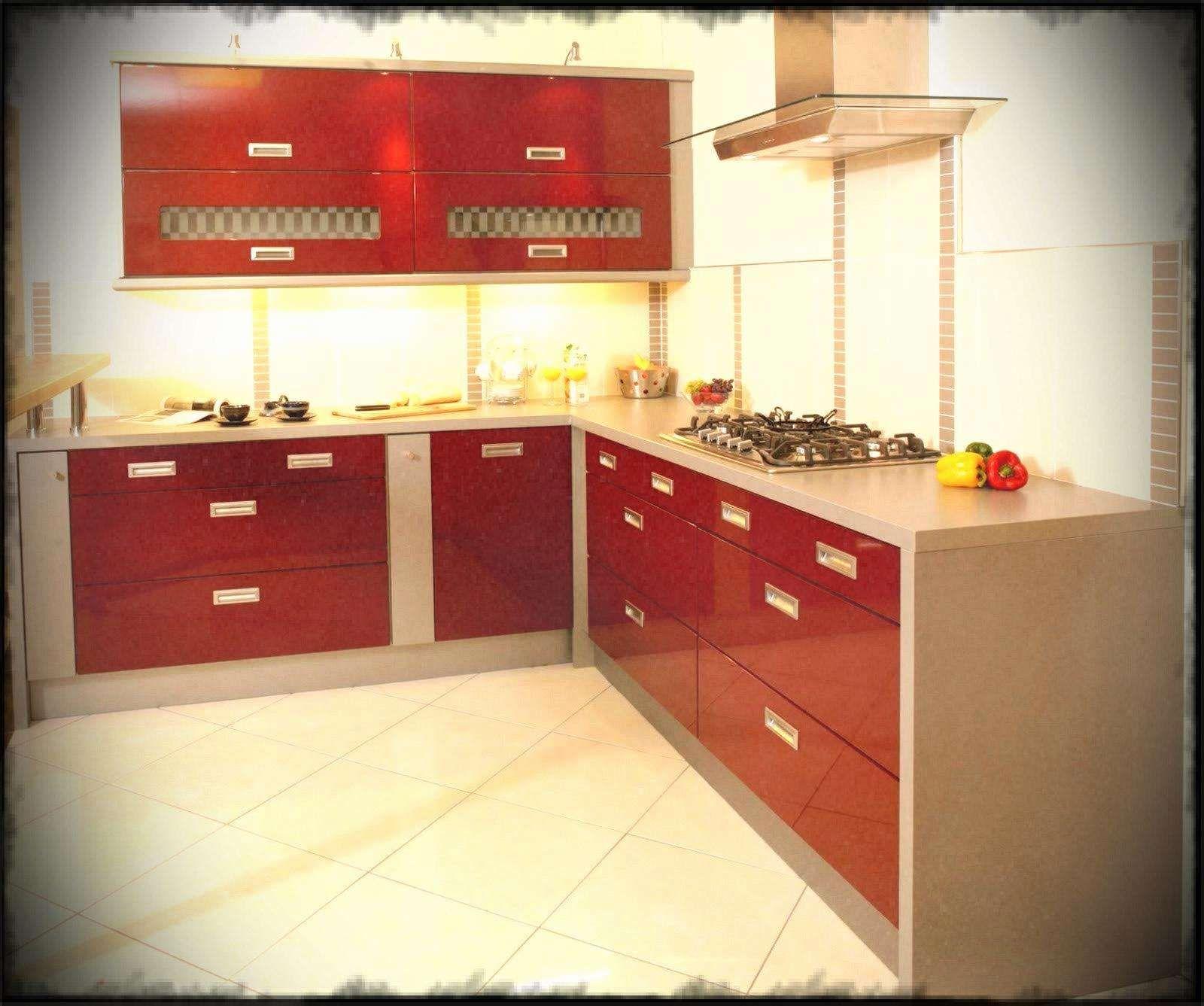 Red Gloss Kitchen Cabinets Fresh Grey Kitchen Island Black And White Cabinets Gloss Ki Simple Kitchen Remodel Simple Kitchen Design Kitchen Remodel Countertops
