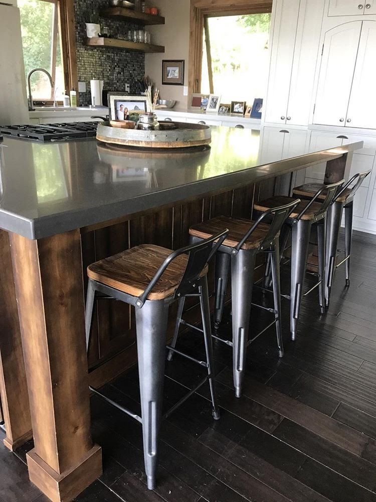 Metropolis Low Back Wood Seat Stool Stools For Kitchen Island Kitchen Island Stools With Backs Rustic Kitchen Island