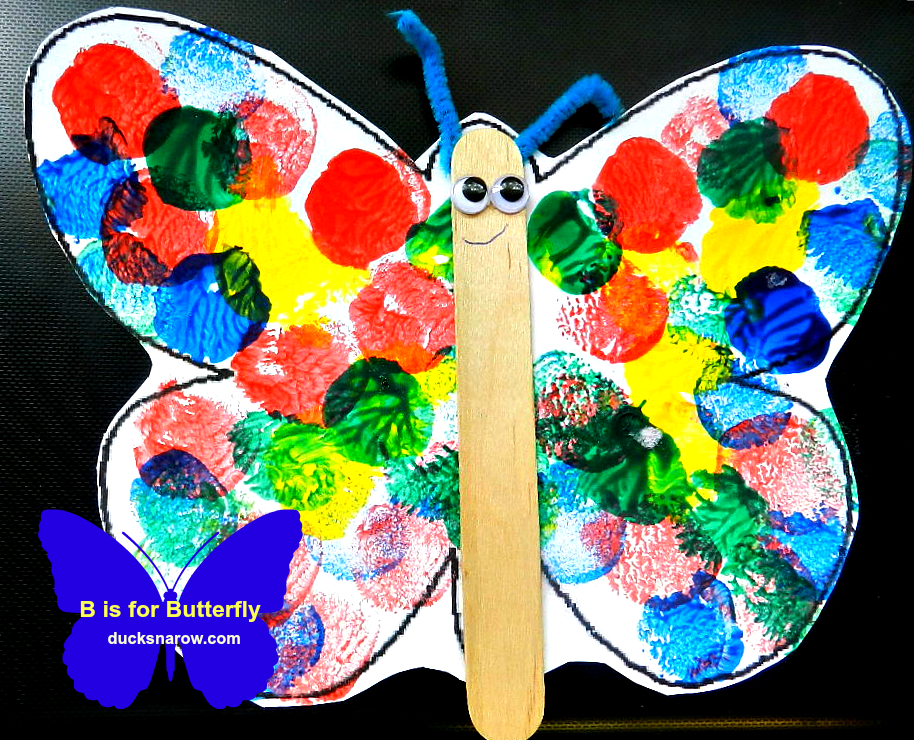 B Is For Butterfly Preschool Lesson & Craft