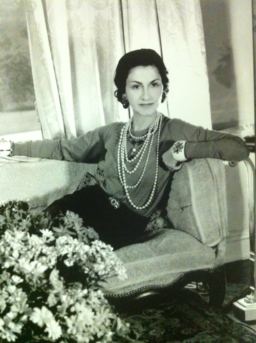The Original Girl and Her Pearls          Coco Chanel