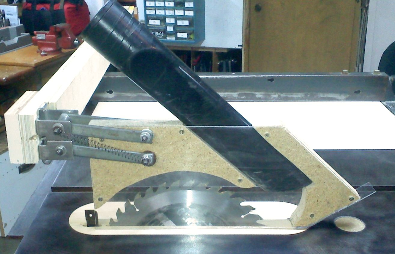 Table Saw Blade Guard Dust Collection