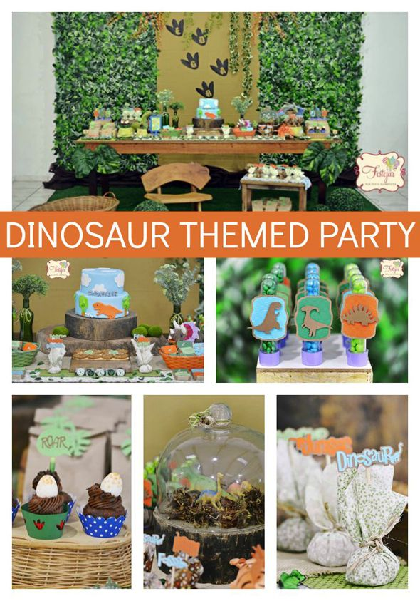 Do You Have A Child Who Loves Dinosaurs Check Out This Jaw Dropping Dinosaur Theme Birthday Party On Prettymyparty