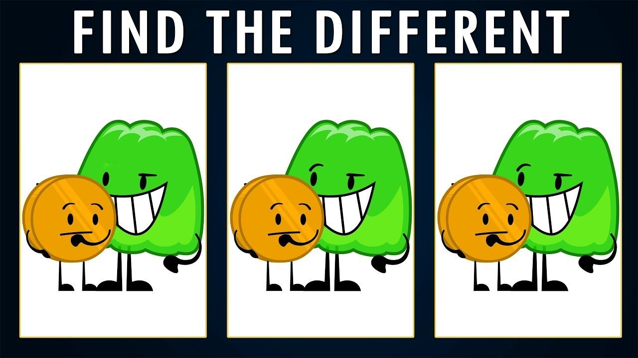 BFDI Find The Different One | Find The Odd One Out | Battle For