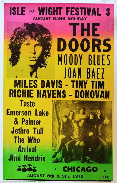 Isle Of Wight Festival Poster Music Festival Poster Isle Of Wight Festival Vintage Concert Posters
