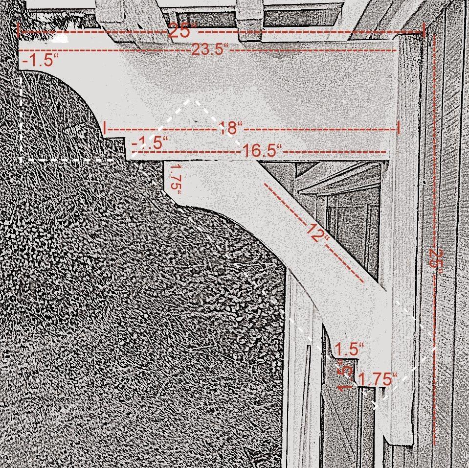 Trellis over garage door - Diy Trellis Over The Garage Door The Brackets Are Made Up Of A 2 X 4