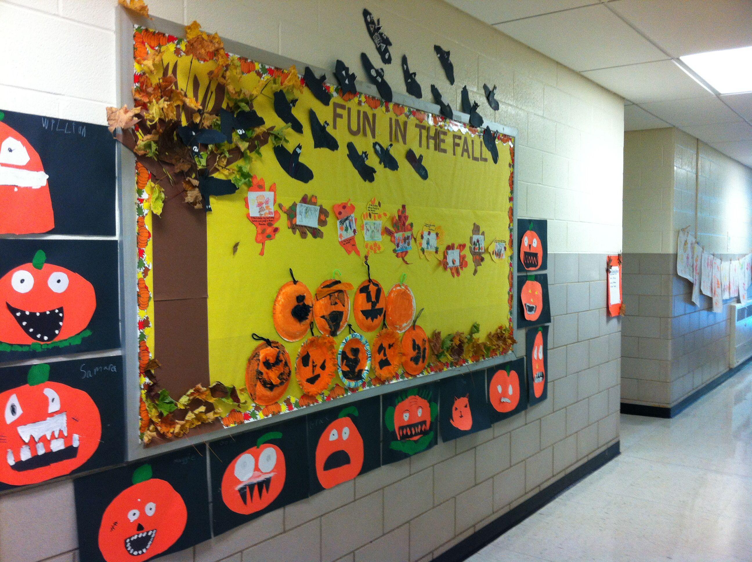 Fall Bulletin Board Kindergarten First And Second Grade