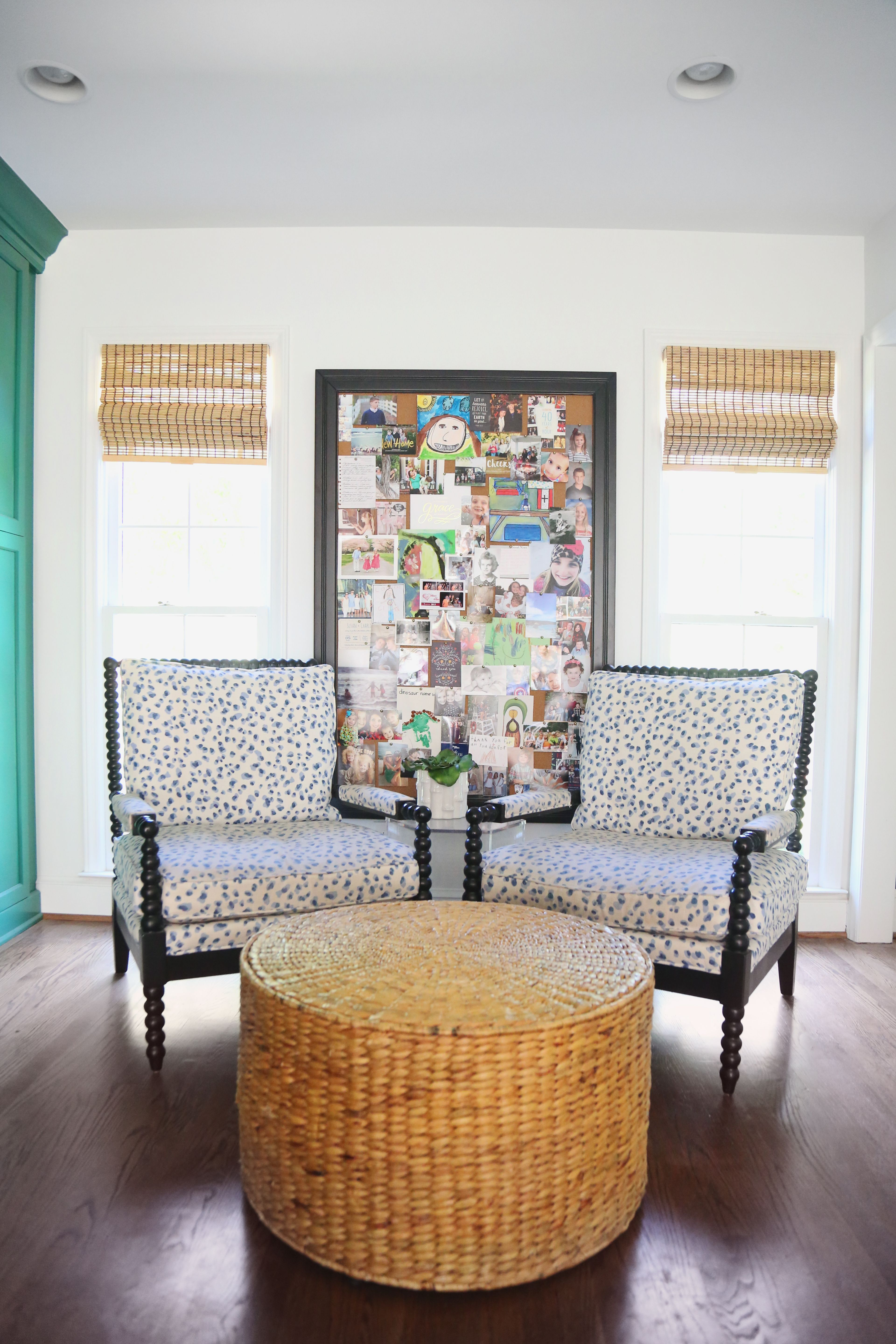 Our Green and White Kitchen Renovation | Spool chair, Keeping room ...
