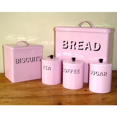 Adore thanks jlr in perfect world i could have a pink and black kitchen power in pink my - Pink tea and coffee canisters ...