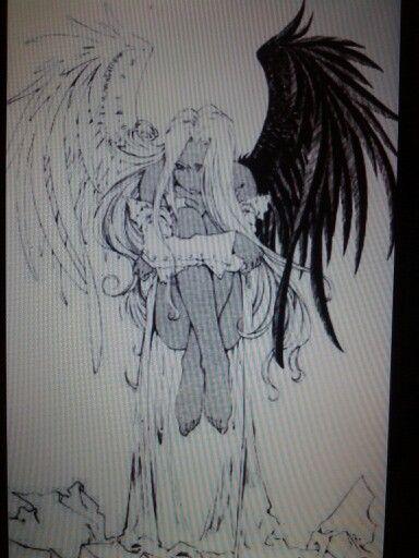 Tattoo Half Angel Half Demon Birds Half Angel Half Demon