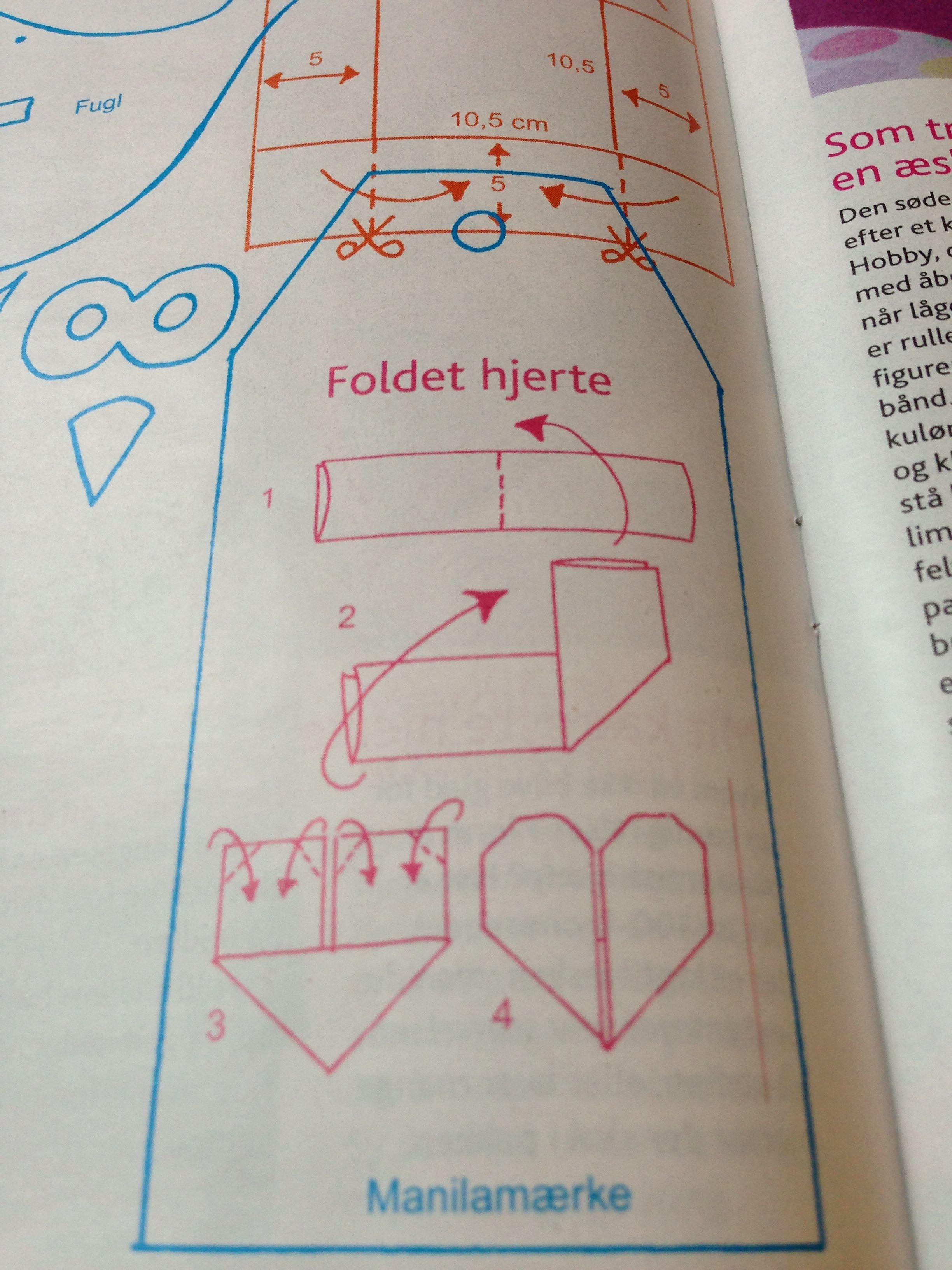 Foldet hjerter