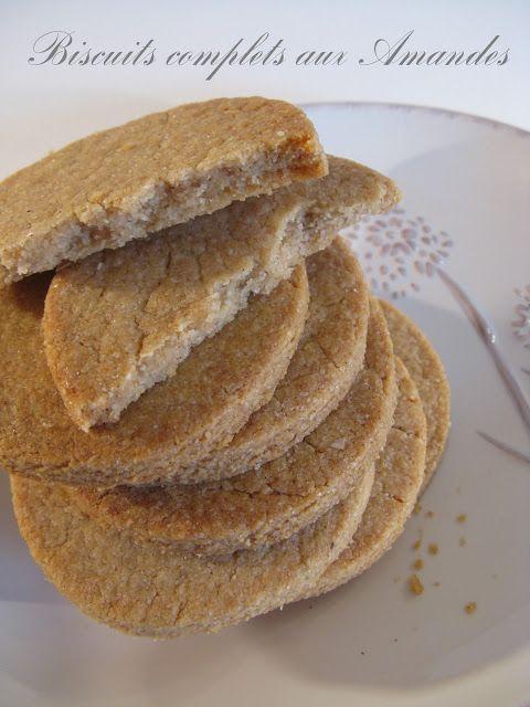 Biscuits Complets aux Amandes (Martha Stewart # 24)