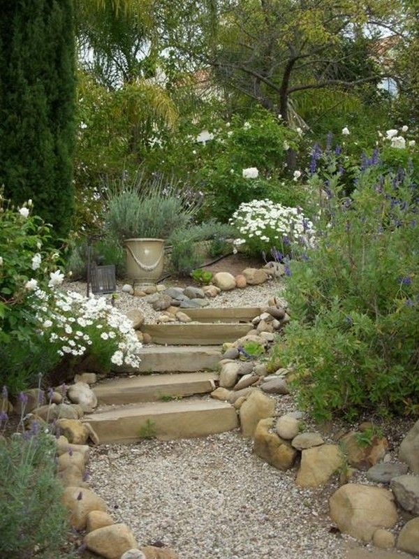 Rustic Garden So Simple And Inviting A Simple Stone