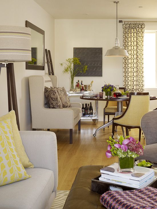 Sitting Room And Dining Room Designs: Spaces Small Living And Dining Room Combination Design