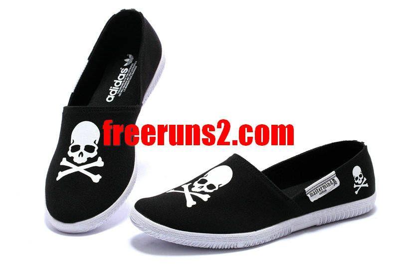 Adidas Adidrill Mens Black White Skull